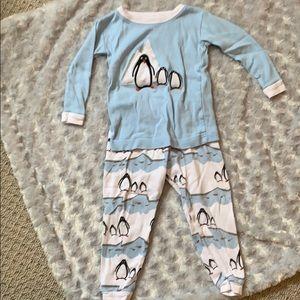 Leveret Penguin Pajamas 2T